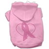 Mirage Pet Products Pink Ribbon Rhinestone Hoodies Pink XXXL(20)