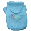 Mirage Pet Products Rainbow Colored Pride Hoodies Baby Blue XXXL(20)