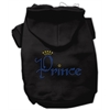 Mirage Pet Products Prince Rhinestone Hoodies Black XL (16)