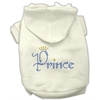 Mirage Pet Products Prince Rhinestone Hoodies Cream XXXL(20)