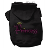 Mirage Pet Products Princess Rhinestone Hoodies Black XL (16)