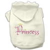Mirage Pet Products Princess Rhinestone Hoodies Cream XXXL(20)