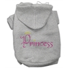 Mirage Pet Products Princess Rhinestone Hoodies Grey XXXL(20)