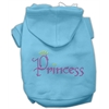 Mirage Pet Products Princess Rhinestone Hoodies Baby Blue XXXL(20)