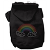 Mirage Pet Products Rhinestone Rainbow Hoodies Black XS (8)