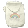 Mirage Pet Products Rhinestone Rainbow Hoodies Cream XXXL(20)
