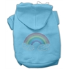 Mirage Pet Products Rhinestone Rainbow Hoodies Baby Blue XXXL(20)