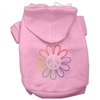 Mirage Pet Products Rhinestone Rainbow Flower Peace Sign Hoodie Pink L (14)