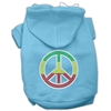 Mirage Pet Products Rasta Peace Sign Hoodie Baby Blue XXL (18)