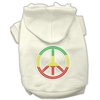 Mirage Pet Products Rasta Peace Sign Hoodie Cream S (10)