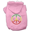 Mirage Pet Products Rasta Peace Sign Hoodie Pink XL (16)