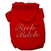 Mirage Pet Products Rich Bitch Rhinestone Hoodies Red L (14)