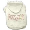 Mirage Pet Products Rock Star Rhinestone Hoodies Cream XS (8)