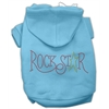 Mirage Pet Products Rock Star Rhinestone Hoodies Baby Blue XXXL(20)