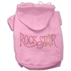 Mirage Pet Products Rock Star Rhinestone Hoodies Pink XXXL(20)