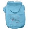 Mirage Pet Products Snowman's Best Friend Rhinestone Hoodie Baby Blue L (14)