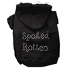 Mirage Pet Products Spoiled Rotten Rhinestone Hoodie Black XL (16)