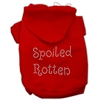 Mirage Pet Products Spoiled Rotten Rhinestone Hoodie Red L (14)