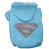 Mirage Pet Products Super! Rhinestone Hoodies Baby Blue XXL (18)