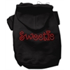 Mirage Pet Products Sweetie Rhinestone Hoodies Black XS (8)