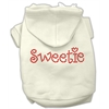 Mirage Pet Products Sweetie Rhinestone Hoodies Cream S (10)