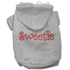 Mirage Pet Products Sweetie Rhinestone Hoodies Grey XXXL(20)