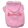 Mirage Pet Products Sweetie Rhinestone Hoodies Pink XXXL(20)