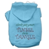 Mirage Pet Products Tinsel in a Tangle Rhinestone Hoodies Baby Blue XXXL(20)