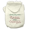 Mirage Pet Products Tinsel in a Tangle Rhinestone Hoodies Cream XXXL(20)