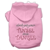 Mirage Pet Products Tinsel in a Tangle Rhinestone Hoodies Pink XXXL(20)