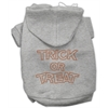 Mirage Pet Products Trick or Treat Rhinestone Hoodies Grey XXXL(20)