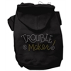 Mirage Pet Products Trouble Maker Rhinestone Hoodies Black L (14)