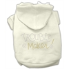 Mirage Pet Products Trouble Maker Rhinestone Hoodies Cream XS (8)