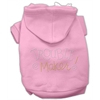 Mirage Pet Products Trouble Maker Rhinestone Hoodies Pink M (12)