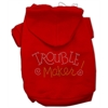 Mirage Pet Products Trouble Maker Rhinestone Hoodies Red XS (8)