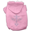 Mirage Pet Products Warrior's Cross Studded Hoodies Pink L (14)