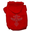 Mirage Pet Products Warrior's Cross Studded Hoodies Red XL (16)