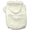 Mirage Pet Products Who loves ya baby? Hoodies Cream XS (8)