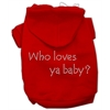 Mirage Pet Products Who loves ya baby? Hoodies Red M (12)