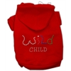 Mirage Pet Products Wild Child Rhinestone Hoodies Red M (12)