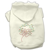Mirage Pet Products Christmas Wreath Hoodie Cream XS (8)