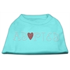 Mirage Pet Products Adopted Rhinestone Shirt Aqua XXXL(20)