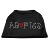 Mirage Pet Products Adopted Rhinestone Shirt Black XXXL(20)