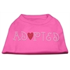 Mirage Pet Products Adopted Rhinestone Shirt Bright Pink XXL (18)