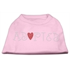 Mirage Pet Products Adopted Rhinestone Shirt Light Pink XL (16)