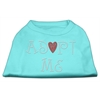 Mirage Pet Products Adopt Me Rhinestone Shirt Aqua XXXL(20)