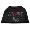Mirage Pet Products Adopt Me Rhinestone Shirt Black XXXL(20)