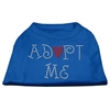 Mirage Pet Products Adopt Me Rhinestone Shirt Blue XS (8)