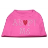 Mirage Pet Products Adopt Me Rhinestone Shirt Bright Pink XXXL(20)