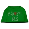 Mirage Pet Products Adopt Me Rhinestone Shirt Emerald Green Sm (10)